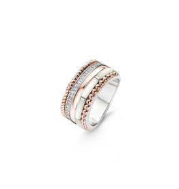 Rose Gold Plated Mother of Pearl Statement Ring