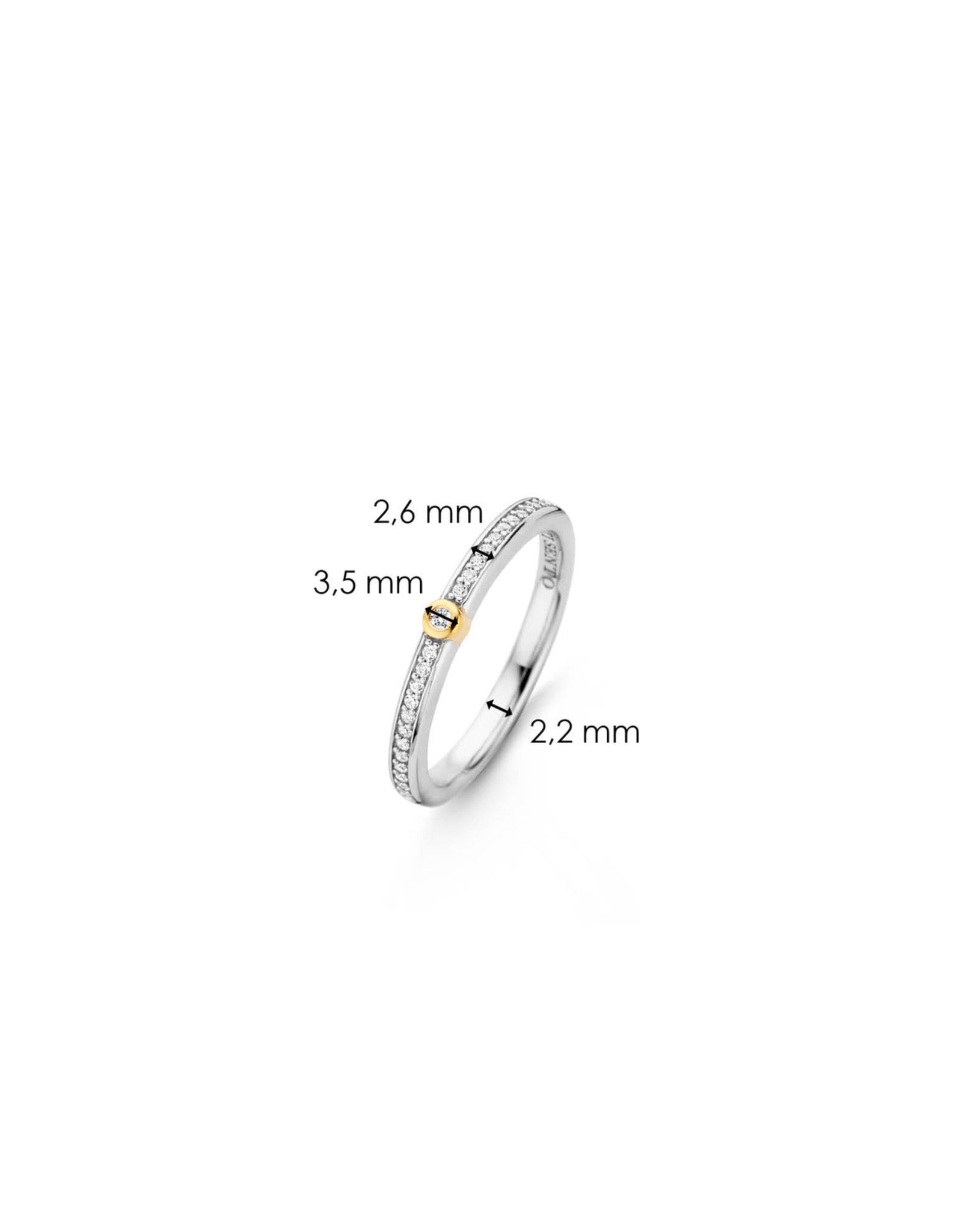 Two tone Stackable Ring with Zirconia- 12147ZY/60