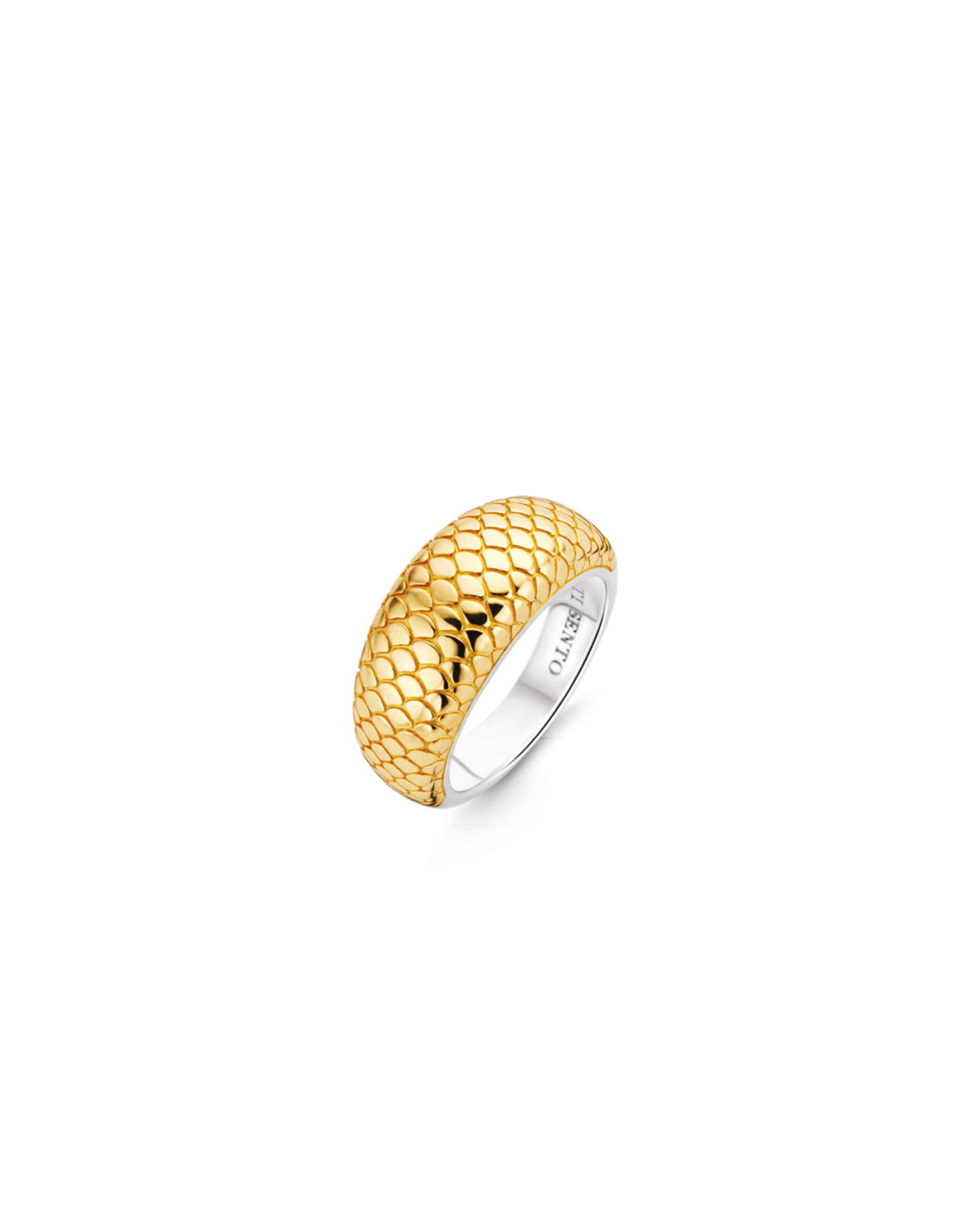 Yellow Gold Plated Snake Skin Ring- 12162SY/58