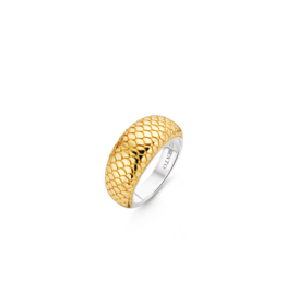 Yellow Gold Plated Snake Skin Ring