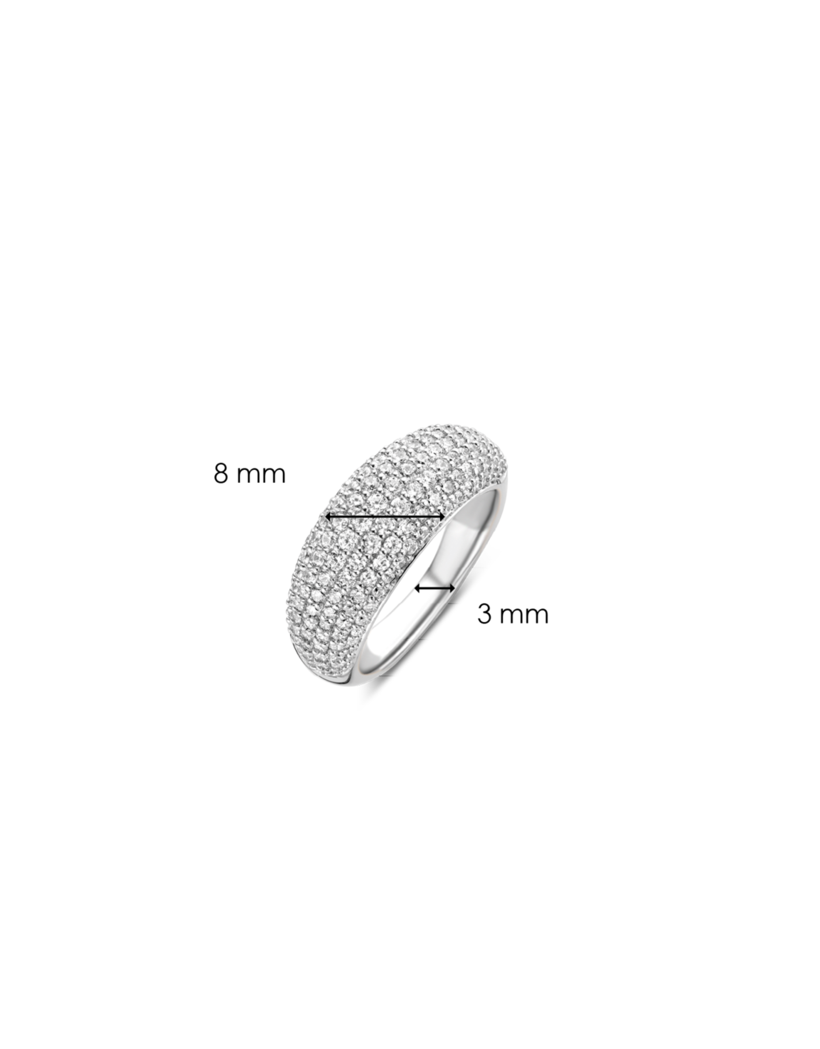 Zirconia Encrusted Bubble Ring- 12172ZI/54