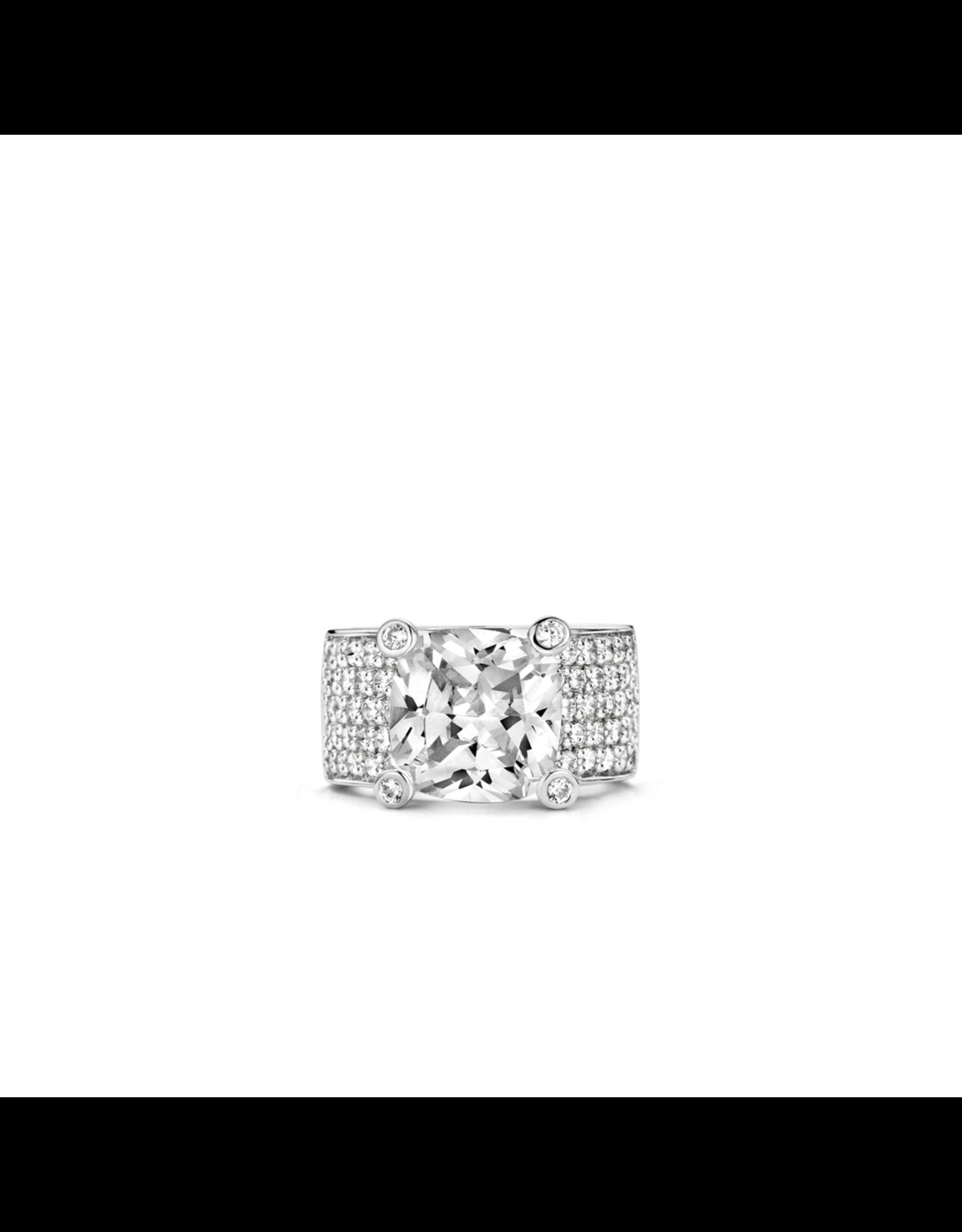 Stunning Silver Zirconia Statement Ring- 1351ZI/54