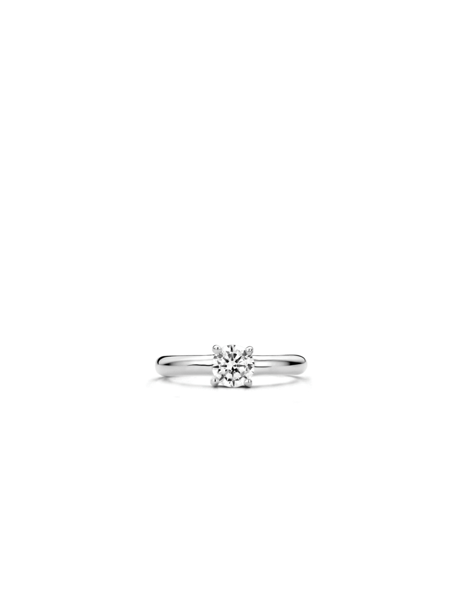 Best Selling Silver Solitaire Zirconia Ring- 1463ZI/56