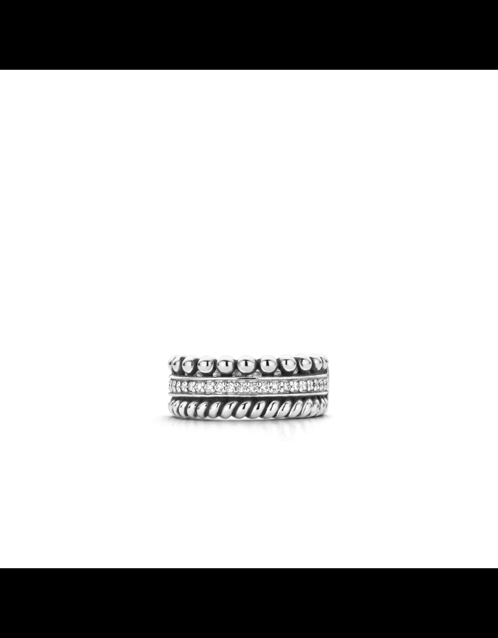 Iconic Textured Triple Row Ring- 1836ZI/56