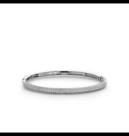 Silver Pave Zironia Bangle Bracelet