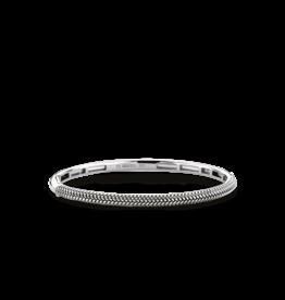 Thin Braided Textured Bangle Bracelet