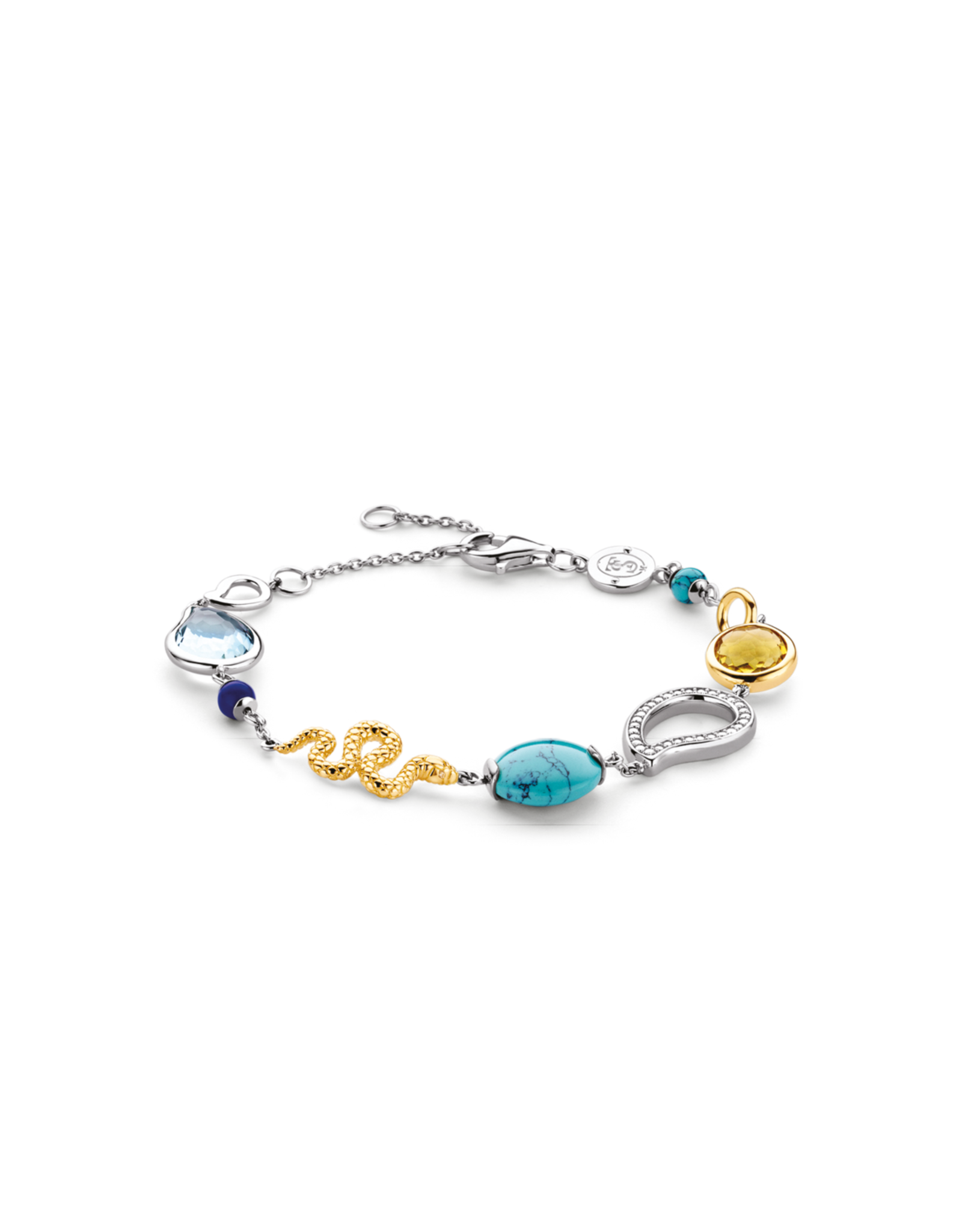 Multi Stone Ti Sento Fashion Bracelet- 2910TQ