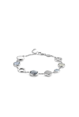 Mixed Grey-Blue and Zirconia Bracelet- 2920GB