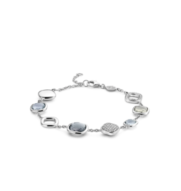 Mixed Grey-Blue and Zirconia Bracelet