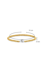 Yellow Gold Plated Beaded Bracelet - 2921