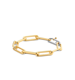 Large Yellow Gold Plated Paperclip Bracelet