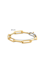Large Yellow Gold Plated Paperclip Bracelet- 2926SY