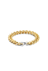 Yellow Gold Plated Heavy Cuban Link Bracelet- 2935SY