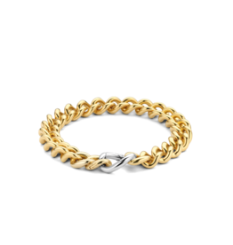 Yellow Gold Plated Heavy Cuban Link Bracelet