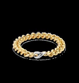 Yellow Gold Plated Heavy Cuban Link Bracelet
