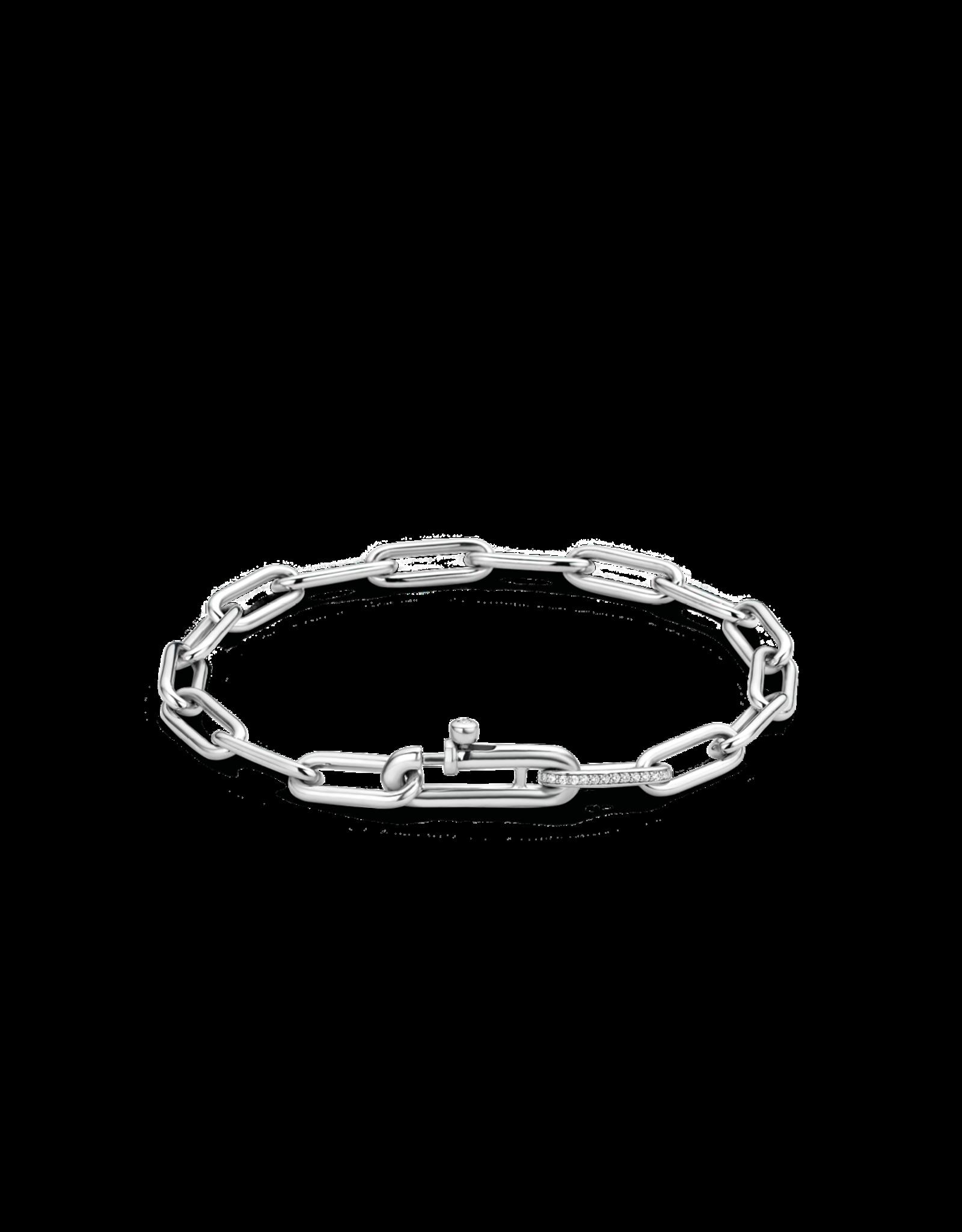 Small Silver Paperclip Bracelet- 2936ZI