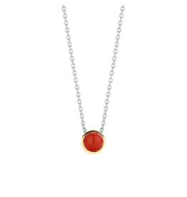 Petite Simple Coral Necklace