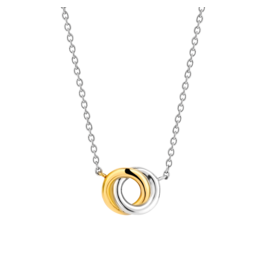 2-tone Interlocking Infinity Necklace