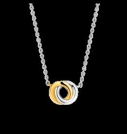 2-tone Interlocking Infinity Necklace