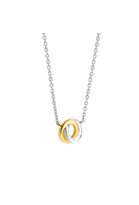 2-tone Interlocking Infinity Necklace- 3915SY