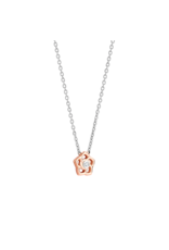 Rose Gold Plated Flower Necklace- 3932ZR