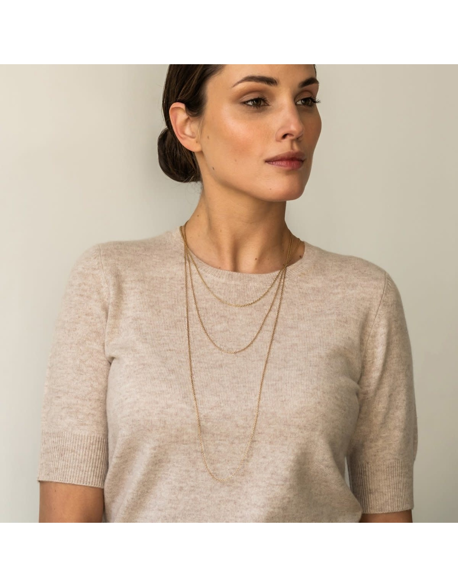 Timeless Yellow Gold Plated Necklace- 3933SY