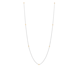 "Two-tone Minimalist Necklace, 16"""