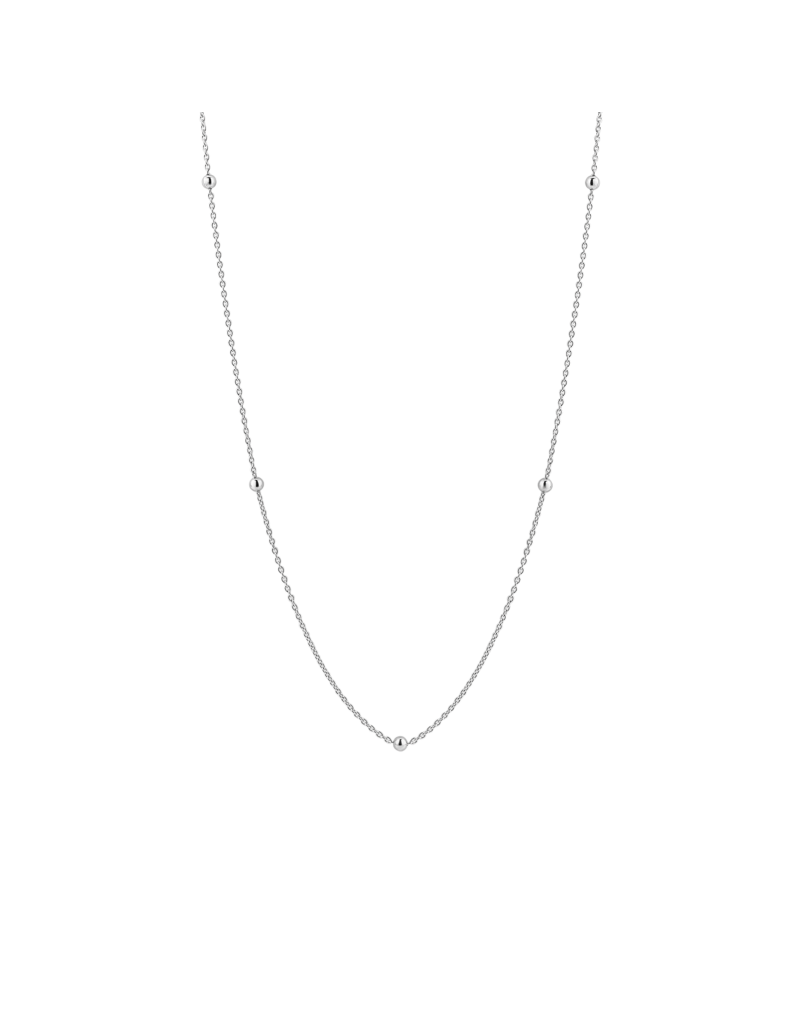 Minimalist Silver Layering Necklace - 3934SI/60