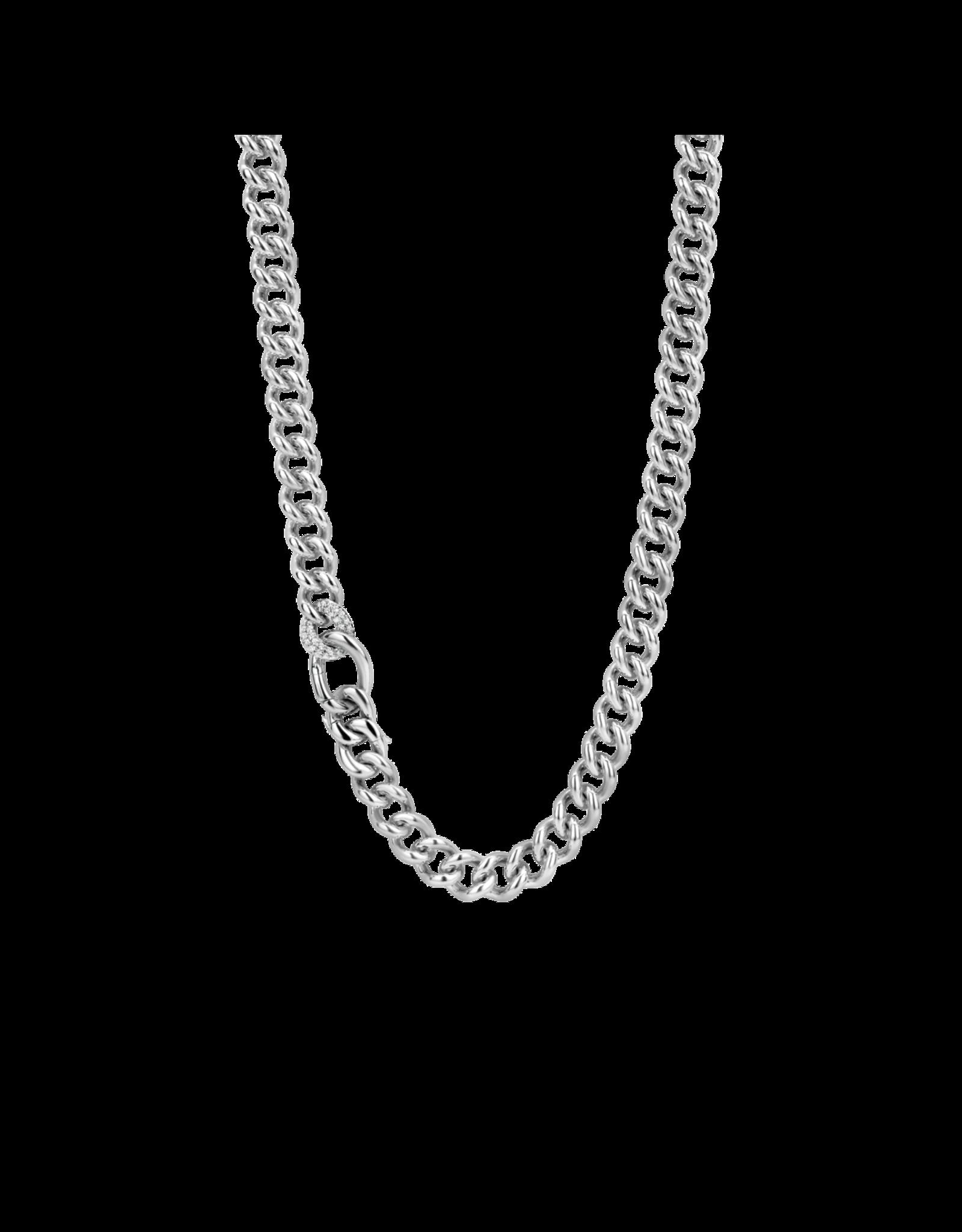 Fancy Silver Cuban Link Chain- 3946ZI/45