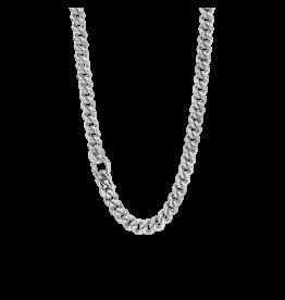 Fancy Silver Cuban Link Chain