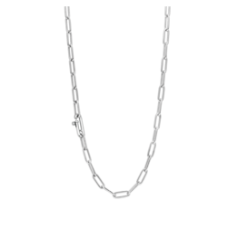 Small Link Silver Paperclip Necklace
