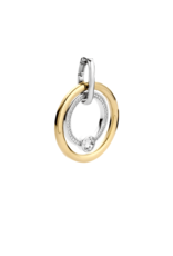Large 2-tone Double Ring Pendant- 6755SY