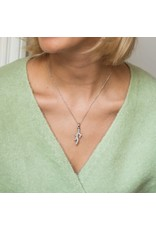 Pave encrusted Coral Branch Pendant- 6781ZI