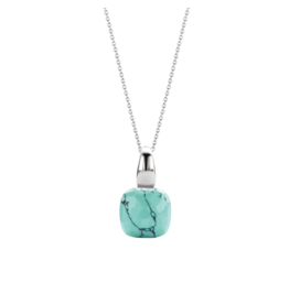 Silver Turquoise Blue Pendant