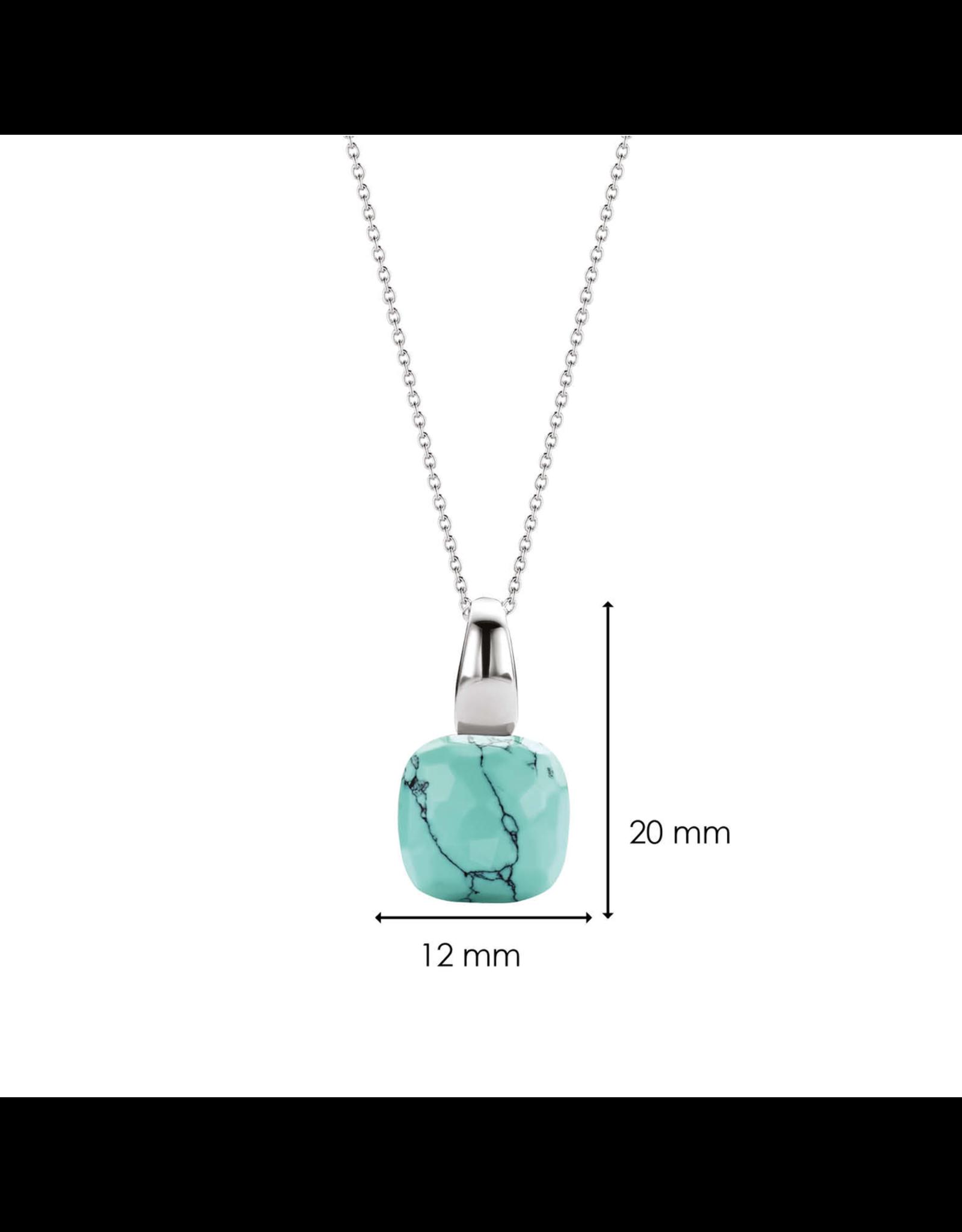 Silver Turquoise Blue Pendant- 6785TQ
