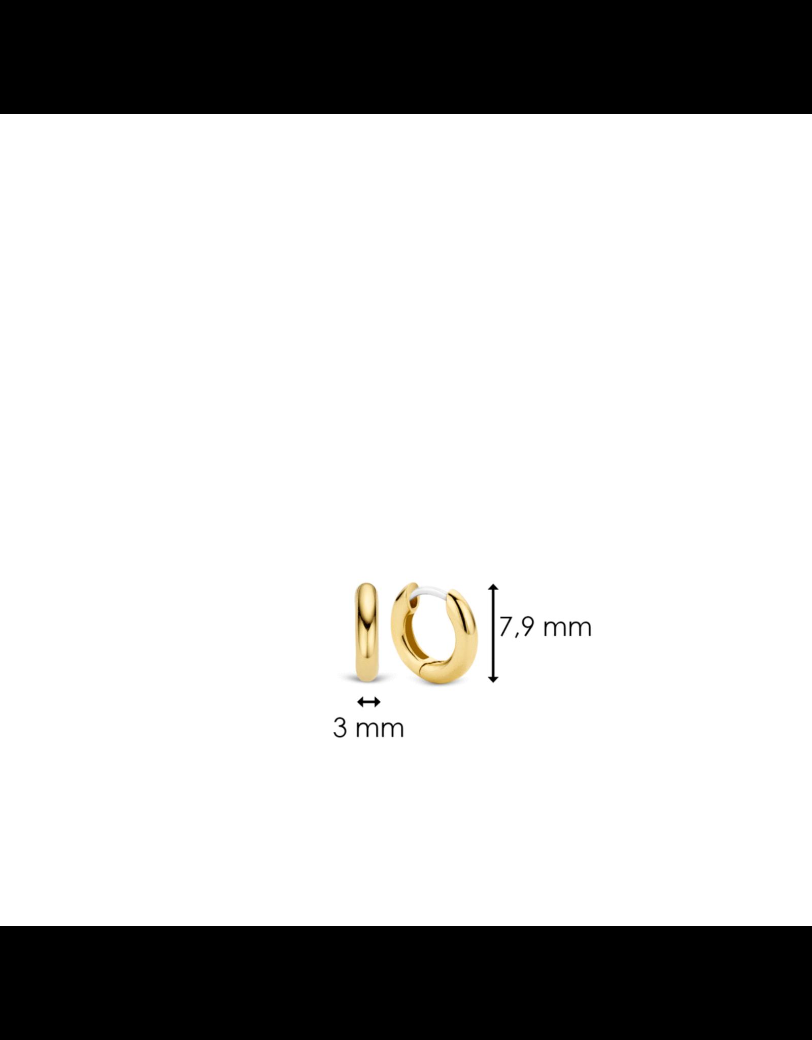Small Essential Silver Huggie earrings- 7210