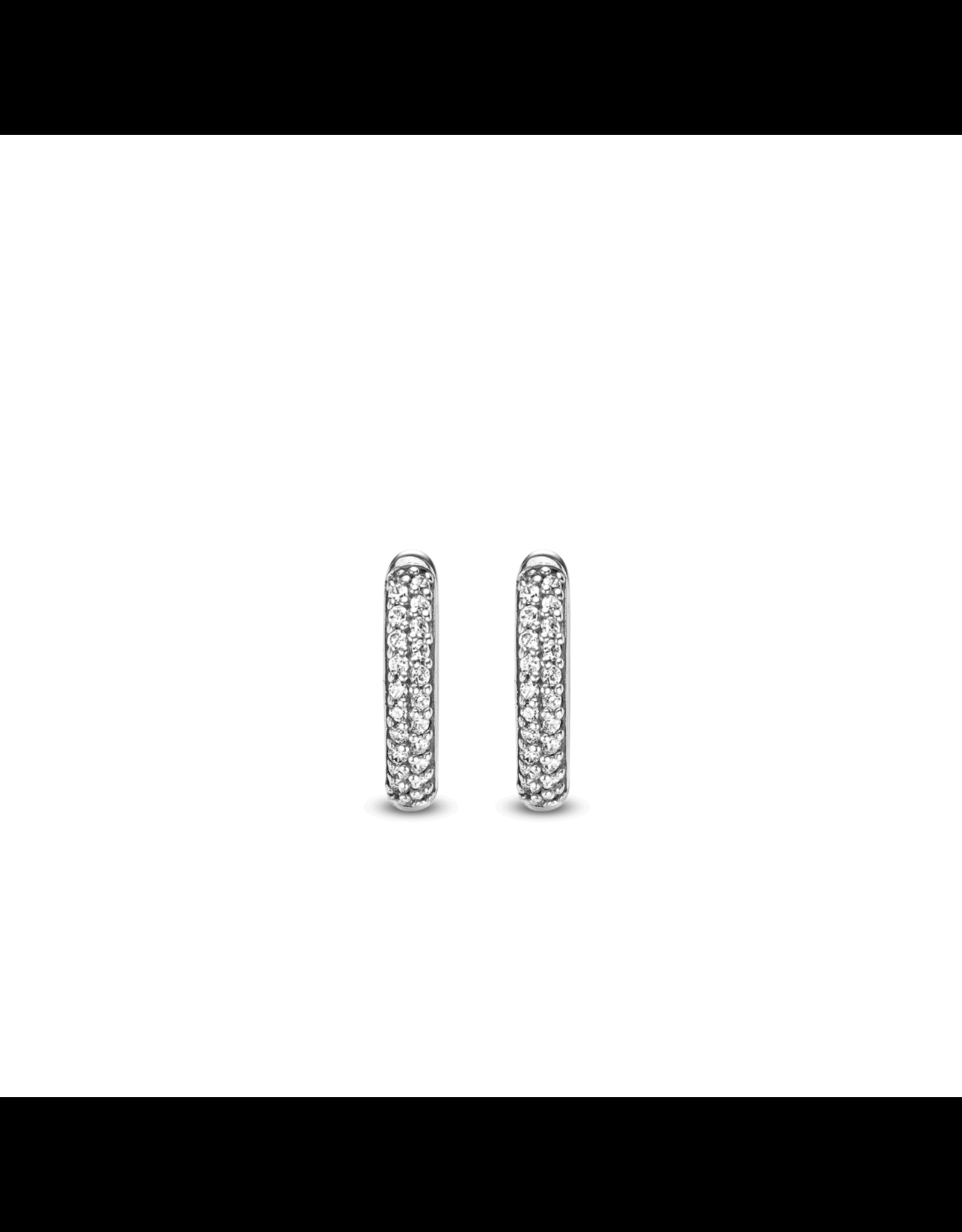 Essential Silver Huggie earrings- 7557