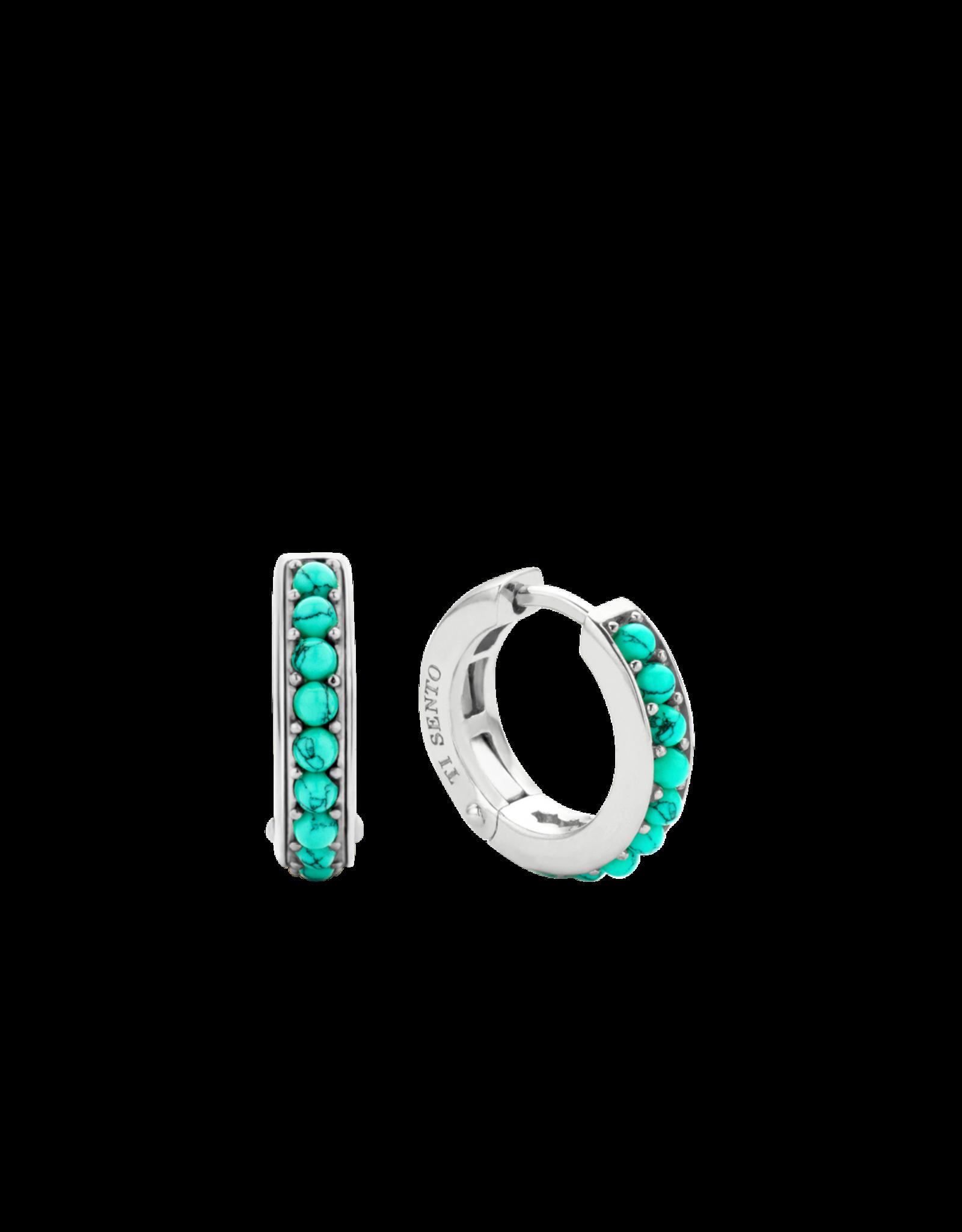 Turquoise Huggie Earrings- 7764TQ