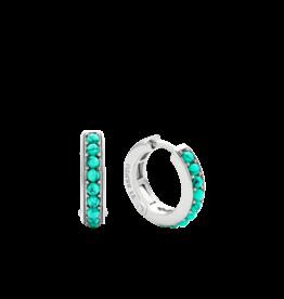 Turquoise Huggie Earrings