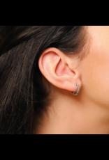 Sterling Silver Braided Huggie Earrings- 7798SI