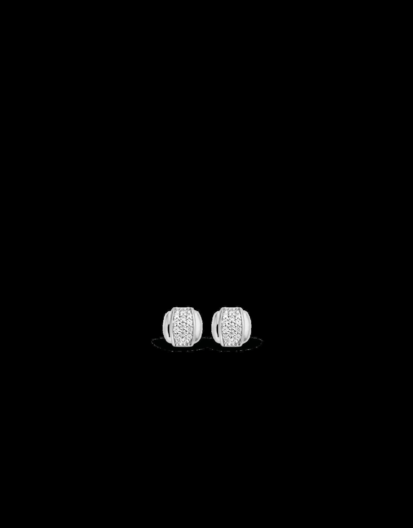 Minimalist Pave Zirconia Stud Earrings (6mm)- 7799