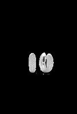 Chunky Silver Huggie Earrings- 7804