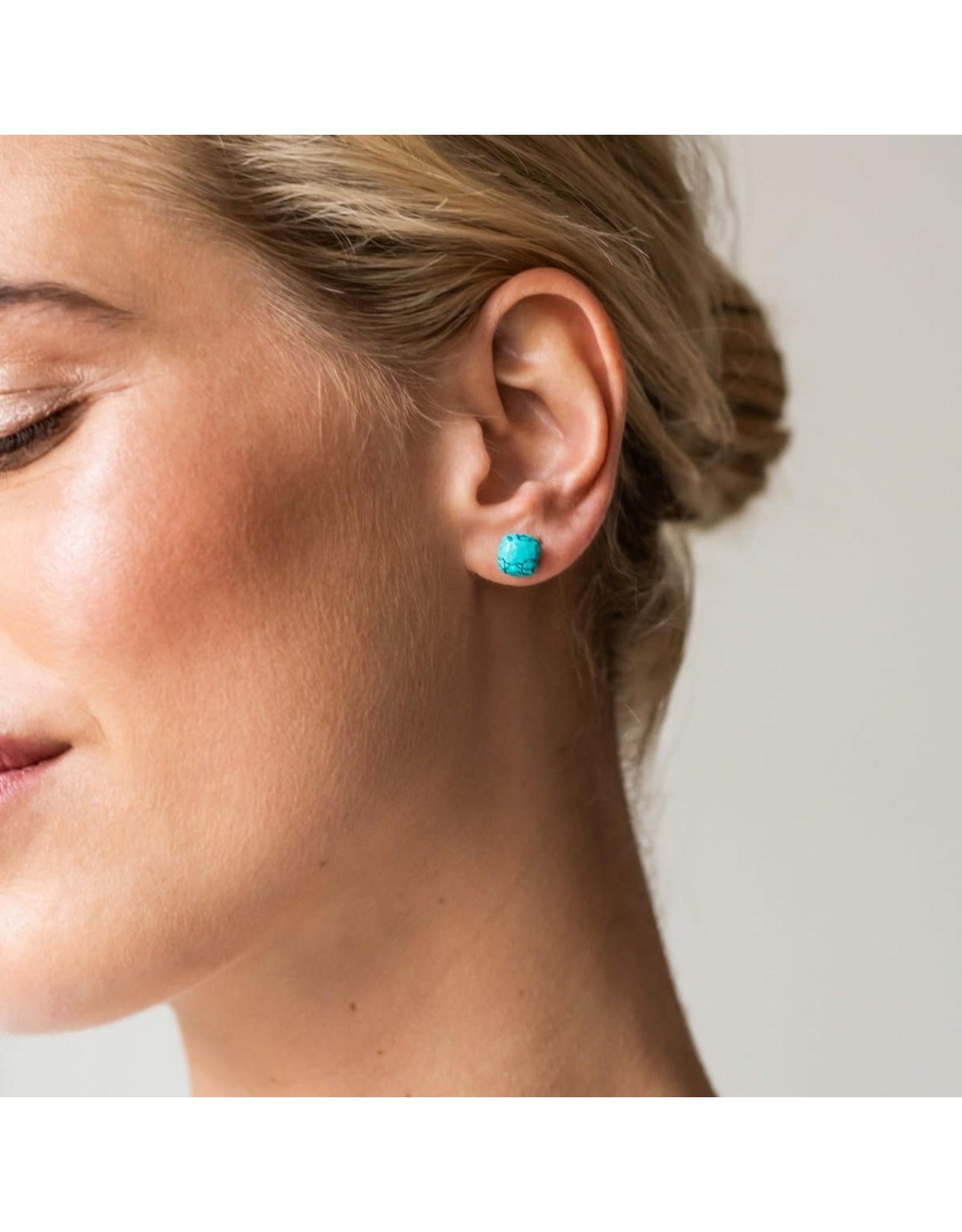 Turquoise Stud Earrings (8mm)- 7814TQ