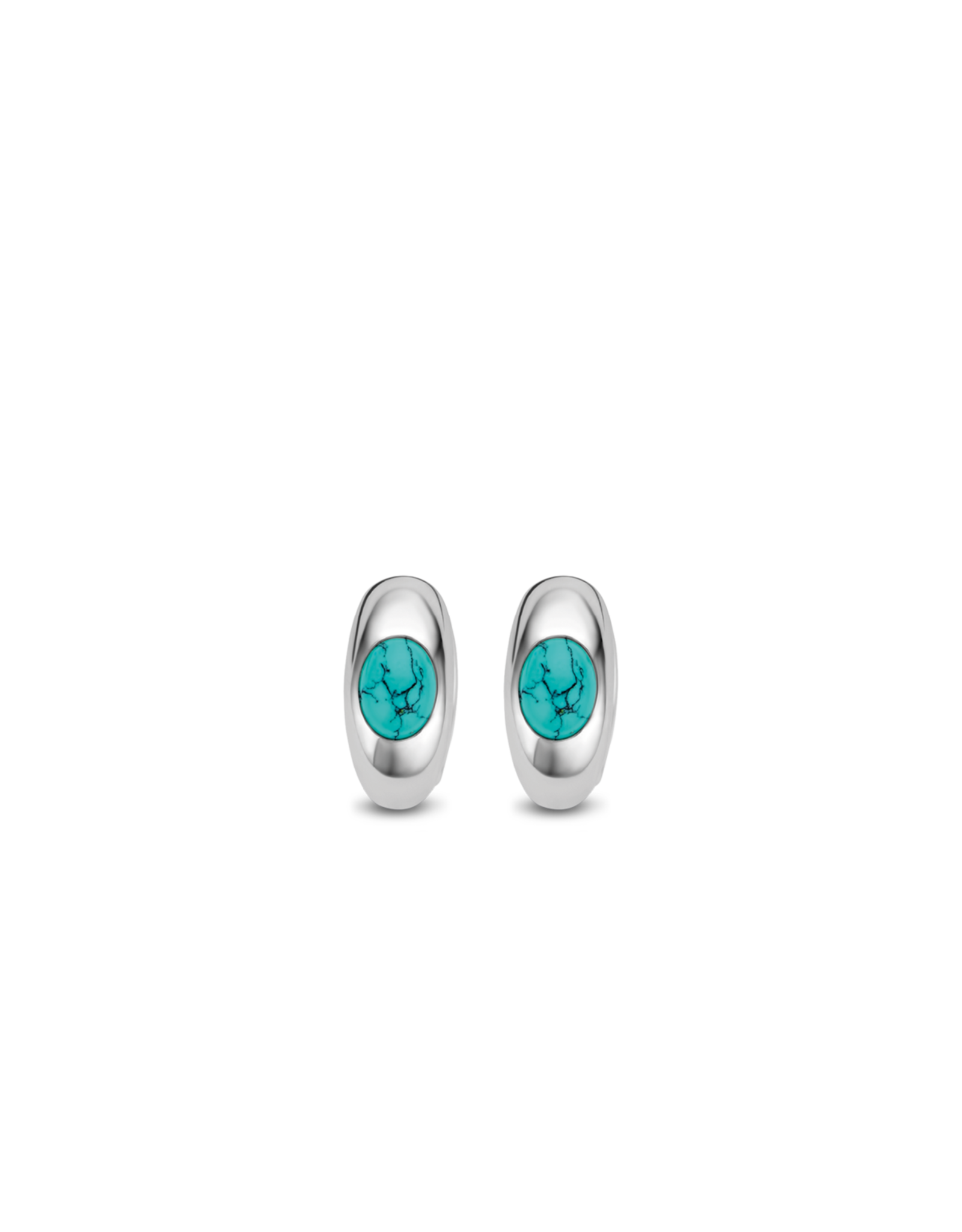 Sterling Silver Turquoise Huggie Earrings- 7816TQ