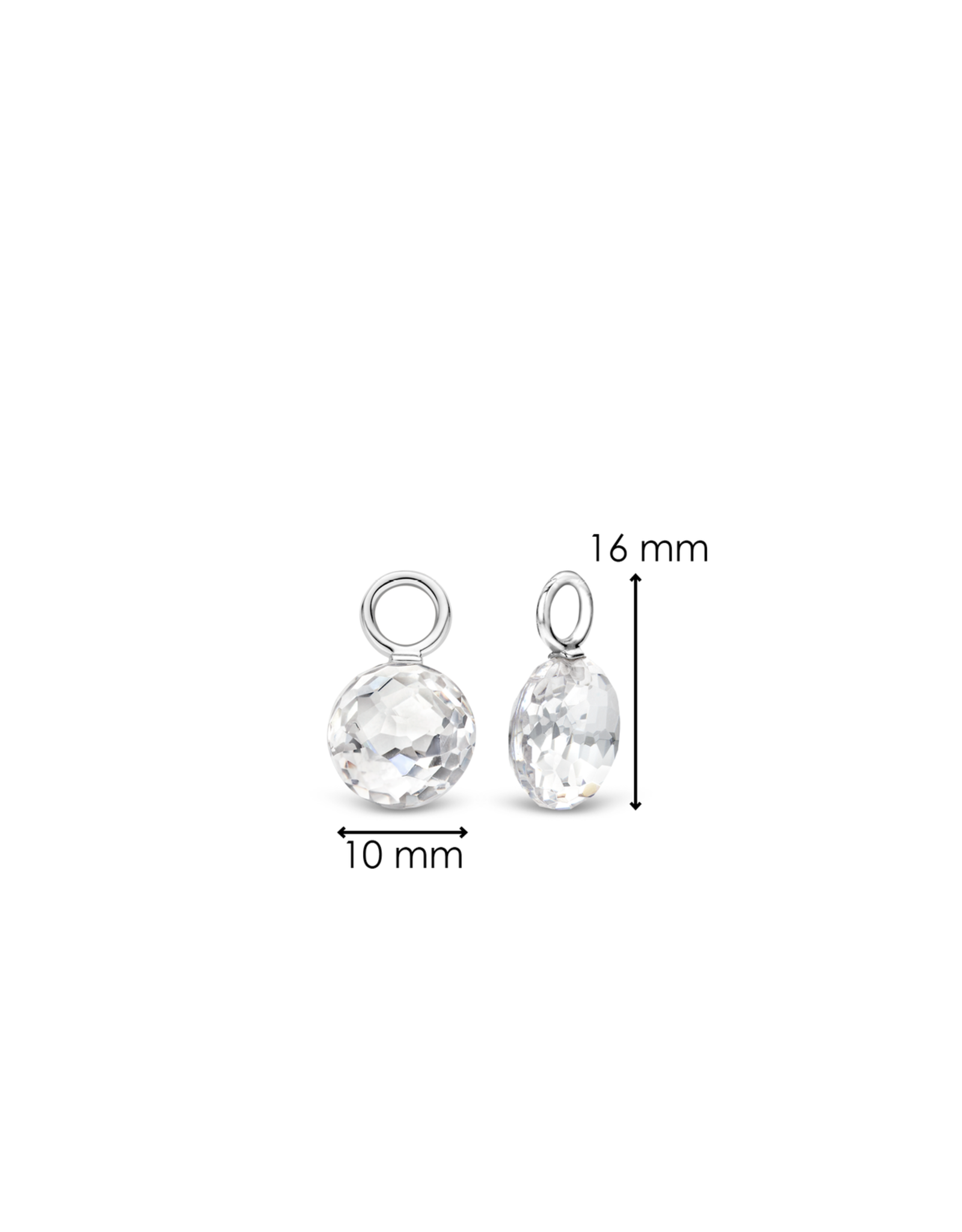 Faceted White Crystal Earring Charms- 9183ZI