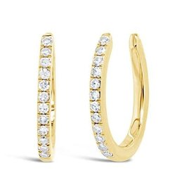14K Y/G Diamond Earring Cuffs