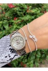14K White Gold Pear Shaped Diamond Bangle Bracelet, D: 0.54ct