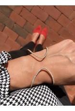 14K Yellow Gold Flexible Diamond Cuff Bracelet, D: 1.22ct