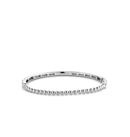 Thin Sterling Silver Bubble Bangle