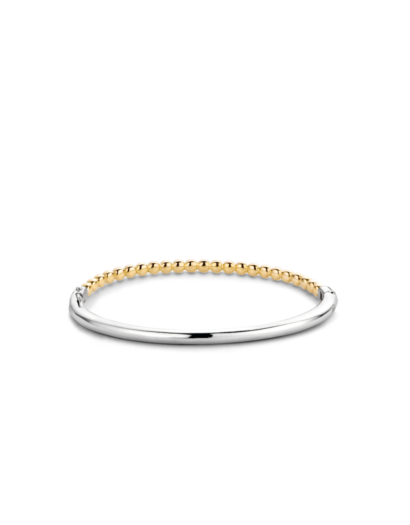 Thin Yellow Gold Plated Bubble Bangle- 2944SY